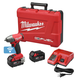 Milwaukee 2758-22 M18 FUEL 18V 5.0 Ah Cordless Lithium-Ion 3/8 in. Compact Impact Wrench Kit with Friction Ring & ONE-KEY Connectivity