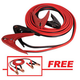 FJC 45234P 20 ft. 600 Amp Extra-Heavy Booster Cable with FREE 12 ft. 250 Amp Light-Duty Booster Cable