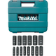 Makita A-96372 14-Piece 1/2 in. Drive 6-Point Deep Well Impact Socket Set