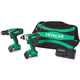 Factory Reconditioned Hitachi KC18DGL 18V Cordless Lithium-Ion Impact and Drill Driver Combo Kit