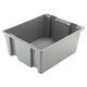 Rubbermaid 1731GRA 19 Gal. 23-1/2 in. x 19-1/2 in. x 10 in. Palletote Box (Gray)