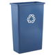 Rubbermaid 354074BLU 23 Gal. Slim Jim Recycling Container (Blue)