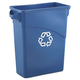 Rubbermaid 354173BLU 15.8 Gal. Slim Jim Recycling Container with Handles (Blue)