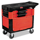 Rubbermaid 618088BLA 330 lb. Capacity 19-1/4 in. x 38 in. x 33-3/8 in. Locking Trades Cart (Black)