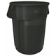Rubbermaid 264360BK 44 Gal. Brute Vented Trash Receptacle (Black)