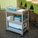 Rubbermaid 342488PM 200 lb. Capacity 18-5/8 in. x 33-5/8 in. x 37-3/4 in. Service Cart (Platinum)