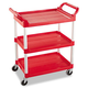 Rubbermaid 342488RED 200 lb. Capacity 18-5/8 in. x 33-5/8 in. x 37-3/4 in. Service Cart (Red)