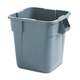 Rubbermaid 352600GY 28 Gal. Square Brute Container (Gray)