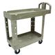 Rubbermaid 450088BG 500 lb. Capacity 17-1/8 in. x 38-1/2 in. x 38-7/8 in. Heavy-Duty Utility Cart (Beige)