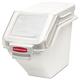 Rubbermaid 9G57WHI 5.4 Gal. 11-1/2 in. x 23-1/2 in. x 16-7/8 in. ProSave Shelf Ingredient Bin (White)