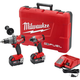Milwaukee 2897-22 M18 FUEL 18V Cordless Lithium-Ion 1/2 in. Hammer Drill and 1/4 in. Hex Impact Driver Kit