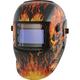 Titan 41266 Solar Powered Auto Dark Welding Helmet (Flame)