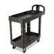 Rubbermaid 450088BK 500 lb. Capacity 17-1/8 in. x 38-1/2 in. x 38-7/8 in. Heavy-Duty Utility Cart (Black)