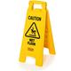 Rubbermaid 611277YW Caution Wet Floor Plastic Floor Sign (Bright Yellow)
