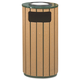 Rubbermaid R23SU50PL 12 Gal. Ash & Trash Receptacle (Brown)
