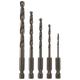 Bosch BL5IM 5-Piece Impact Tough Black Oxide Drill Bit Set
