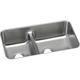 Elkay ELUHAQD32179 Gourmet Undermount 32 in. x 18-1/4 in. Dual Basin Kitchen Sink (Stainless Steel)