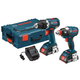 Bosch CLPK222-181L 18V Lithium-Ion Brute Tough Hammer Drill and Hex Impact Driver L-BOXX Kit