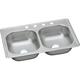 Elkay DSE233193 Dayton Elite Drop In 39 in. x 23-1/2 in. Dual Basin Kitchen Sink (Satin)