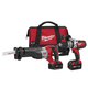Milwaukee 2690-22 M18 18V Cordless Lithium-Ion 1/2 in. Hammer Drill and Recip Saw High Performance Combo Kit