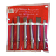 Chicago Pneumatic CA155807 6-Piece 10 2mm Round Shank Chisel Set