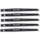 Makita 792541-7 4-3/4 in. General Purpose Wood Cutting Reciprocating Blade (5-Pack)