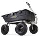 Gorilla Carts GOR10-COM 1,500 lb. Capacity Heavy-Duty Poly Garden Dump Cart