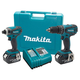 Makita LXT211 LXT 18V Cordless Lithium-Ion 1/2 in. Hammer Drill and Impact Driver Combo Kit