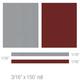 3M 74816 Scotchcal Elite Double Striping Tape, Silver Metallic/Burgundy Metallic