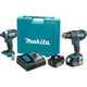 Makita XT261M LXT Lithium-Ion Impact and Hammer Drill Combo Kit