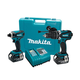 Makita LXT218 LXT 18V Cordless Lithium-Ion 1/2 in. Hammer Drill and Impact Driver Combo Kit