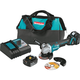 Makita XAG10M 18V LXT BL Brushless Lithium-Ion  4.0 Ah 4-1/2 in. Paddle Switch Cut-Off/Angle Grinder Kit