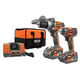 Factory Reconditioned Ridgid ZRR9617 GEN5X 18V 4.0 Ah Cordless Lithium-Ion Brushless Compact Hammer Drill & Impact Driver Combo Kit