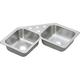 Elkay DE217324 Dayton Drop In 32 in. x 32 in. Dual Basin Kitchen Sink (Stainless Steel)