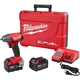Factory Reconditioned Milwaukee 2754-82 FUEL M18 18V Cordless Lithium-Ion Friction Ring 3/8 in. Brushless Compact Impact Wrench Kit with 2 XC 5.0 Ah Batteries
