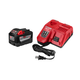 Milwaukee 48-59-1890 M18 REDLITHIUM HIGH DEMAND 18V 9.0 Ah Lithium-Ion Starter Kit
