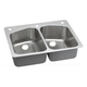 Elkay DPXSR233222R Dayton Premium Universal Mount 33 in. x 22 in. Single Basin Kitchen Sink (Stainless Steel)