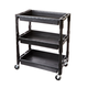 ATD 7017 3-Shelf Heavy-Duty Plastic Utility Cart