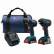 Bosch CLPK237A-181 18V 4.0 Ah Cordless Lithium-Ion Hammer Drill and Impact Driver Combo Kit