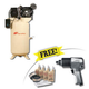 Ingersoll Rand 2475N7.5-PTS Electric 2-Stage 80 Vertical 7.5 HP Compressor with Air Impact Wrench & Start Up Kit