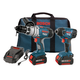 Factory Reconditioned Bosch CLPK22-180-RT 18V Cordless Lithium-Ion 1/2 in. Hammer Drill and Impact Driver Combo Kit