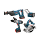Factory Reconditioned Bosch CLPK40-180-RT 18V Cordless Lithium-Ion 4-Tool Combo Kit