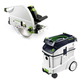 Festool P48561438 Plunge Cut Circular Saw with CT 48 E 12.7 Gallon HEPA Dust Extractor
