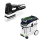 Festool P48567852 Duplex Linear Detail Sander with CT 48 E 12.7 Gallon HEPA Dust Extractor