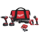 Factory Reconditioned Milwaukee 2696-84 M18 18V Cordless Lithium-Ion 4-Tool Combo Kit
