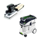 Festool P48567696 Orbital Finish Sander with CT 48 E 12.7 Gallon HEPA Dust Extractor