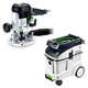 Festool P48574339 Plunge Router with CT 48 E 12.7 Gallon HEPA Dust Extractor