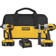 Dewalt DCK255X 18V XRP Cordless 1/2 in. Hammer Drill and Impact Driver Combo Kit