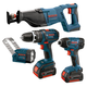 Factory Reconditioned Bosch CLPK431-181-RT 18V Cordless Lithium-Ion 4-Tool Combo Kit