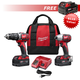 Milwaukee 2697-NOV15-BNDL1 M18 18V Cordless Lithium-Ion Hammer Drill & Impact Driver Combo Kit with FREE M18 REDLITHIUM XC 4.0 Ah Battery Pack